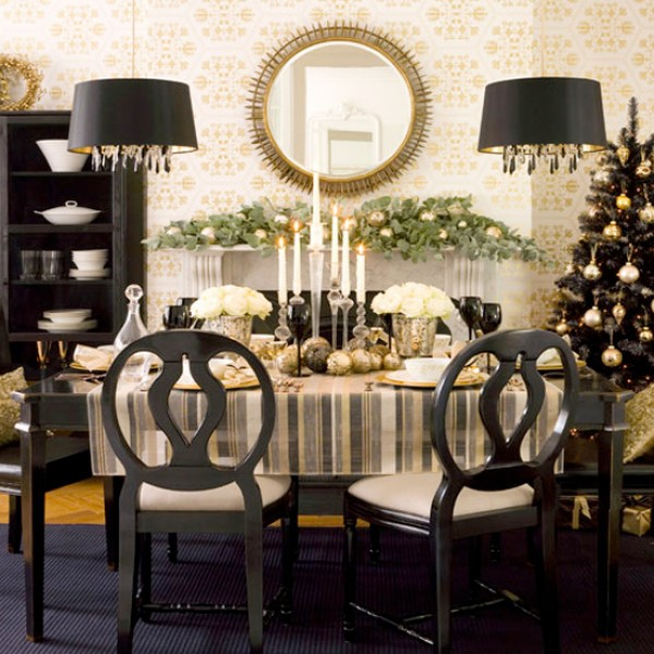 christmas dining table centerpiece ideas