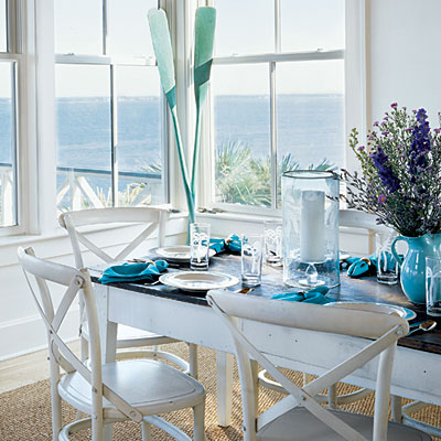 Coastal Dining Room Furniture Photo   2