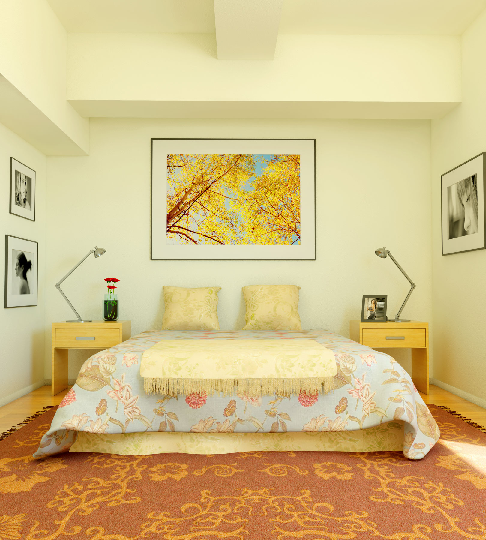 colored bedroom furniture photo - 2