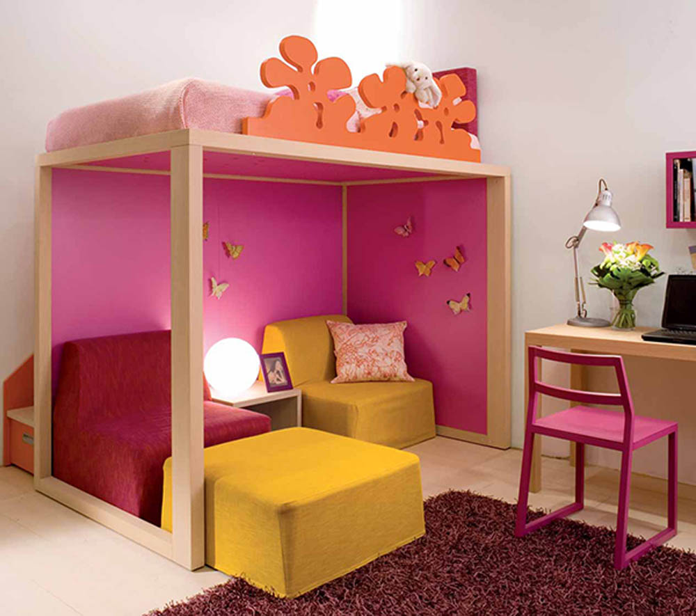 colorful bedroom design photo - 2
