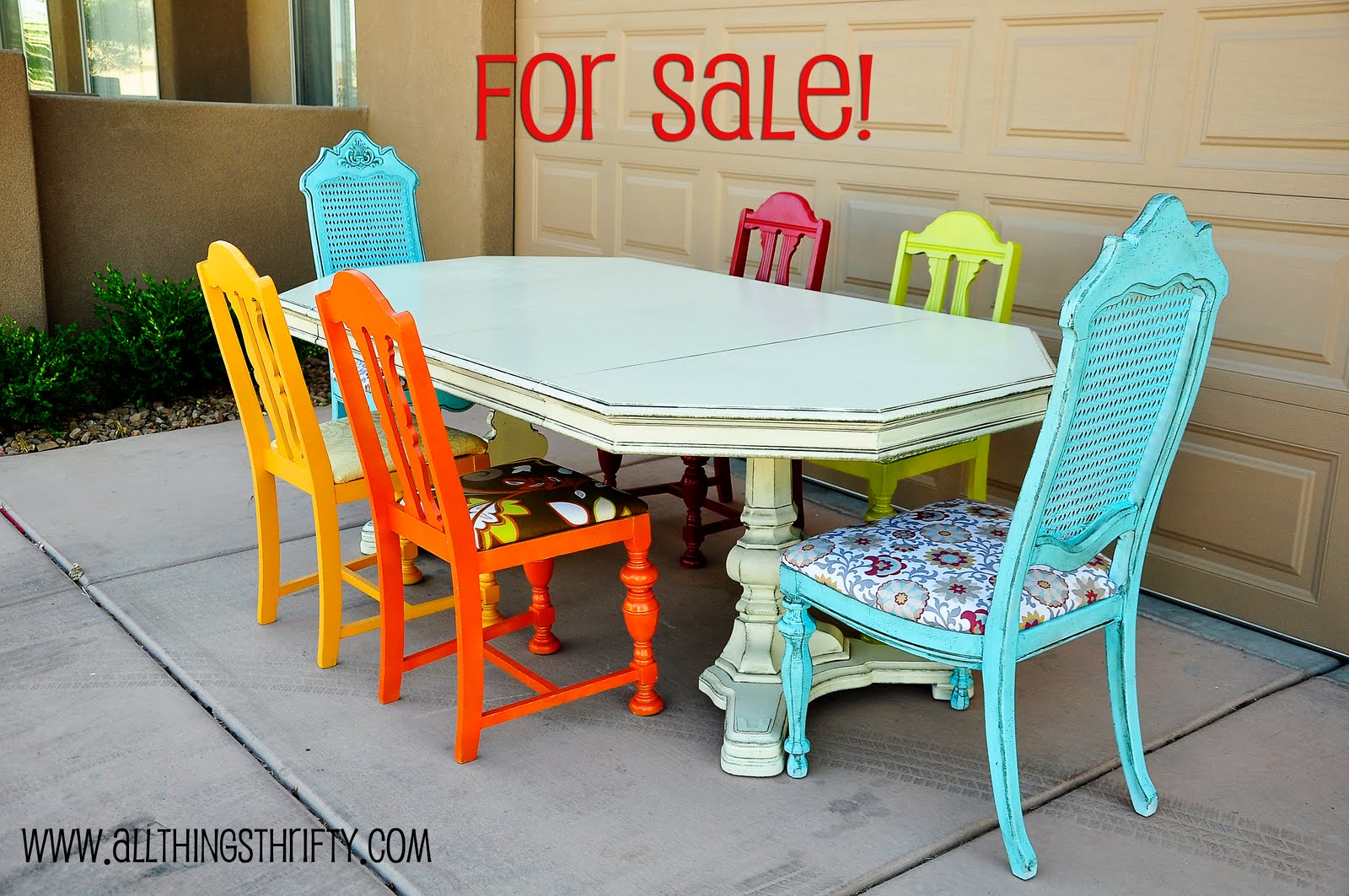 colorful dining room tables photo - 1