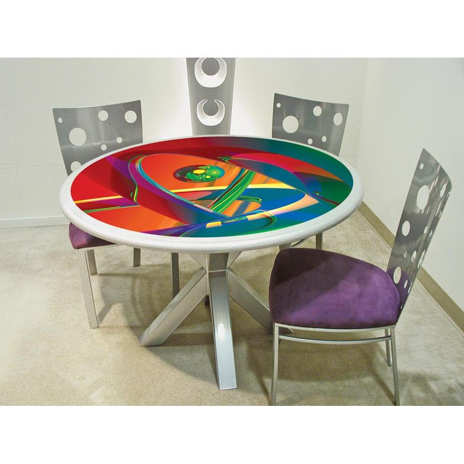 Colorful Dining Table Art Deco Chairs