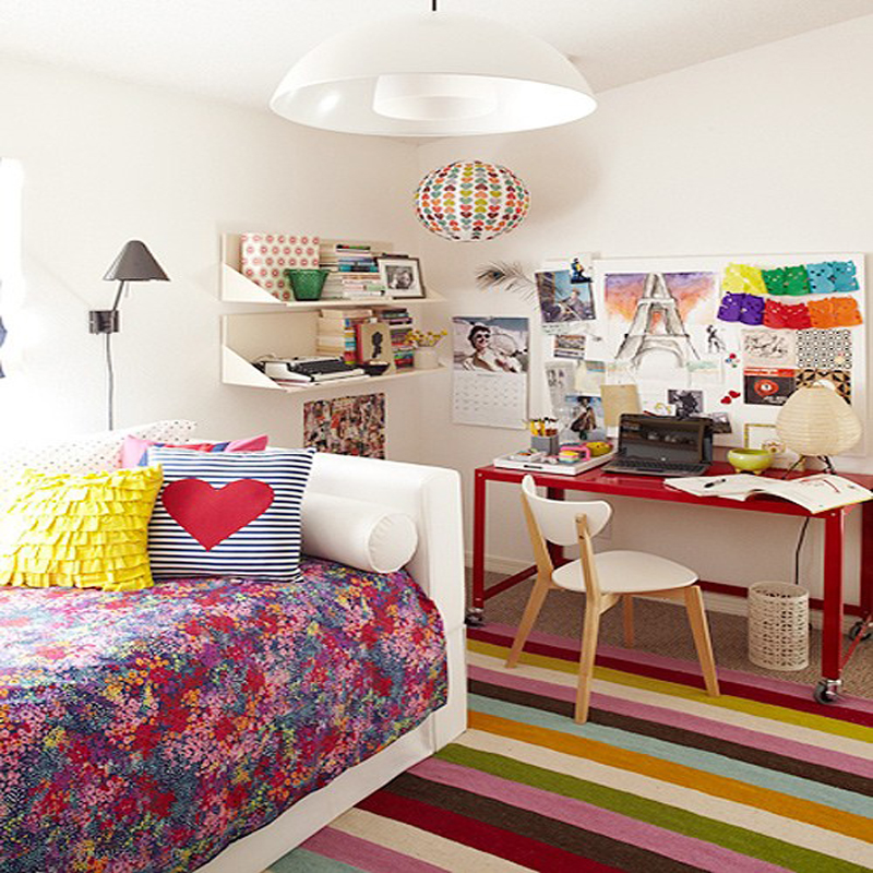 colorful teenage bedroom ideas photo - 2