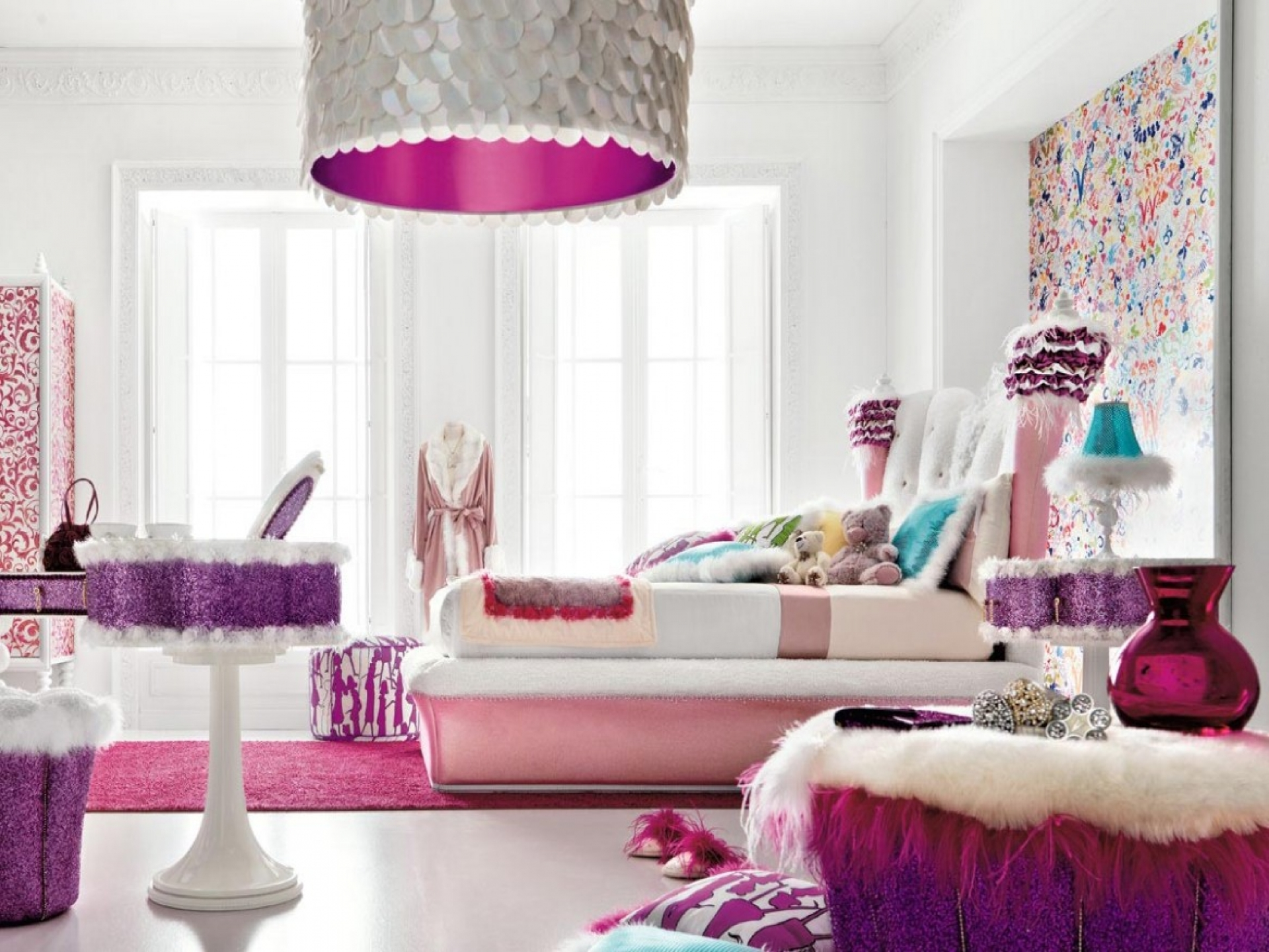 Colorful teenage girl bedroom ideas - large and beautiful photos ...