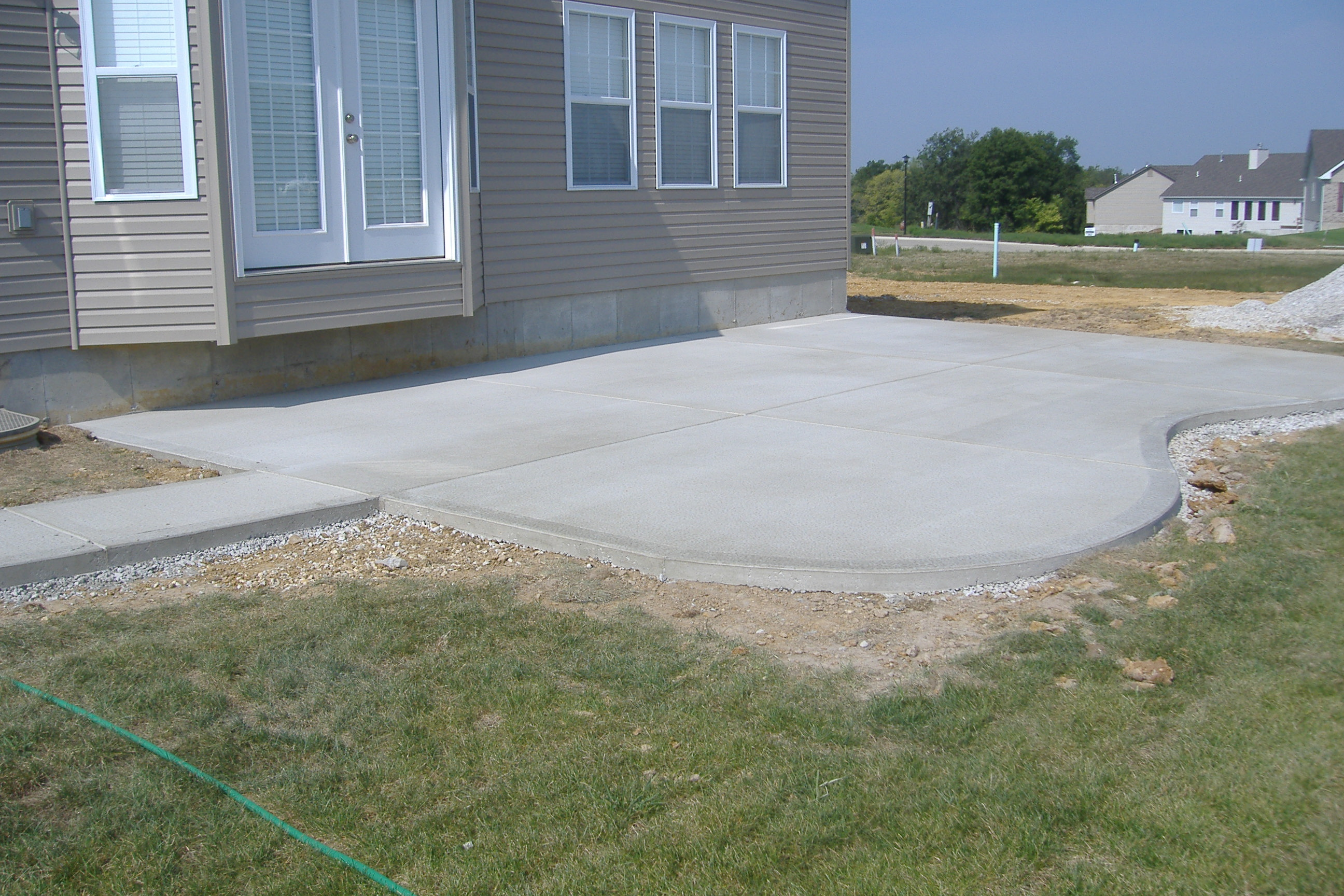 Concrete Patio Designs. Concrete Backyard - Large And Beautiful ...