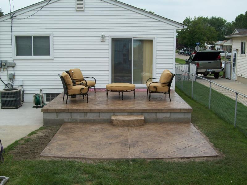 Concrete Backyard Landscaping Design concrete patio ideas for small backyards - large and beautiful