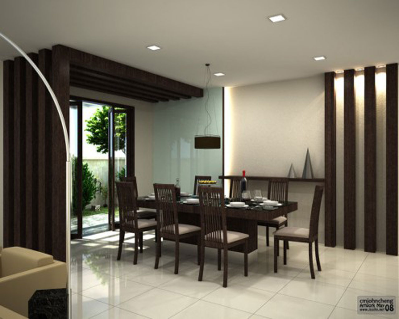 Contemporary dining room design large and beautiful for Modern dining room design