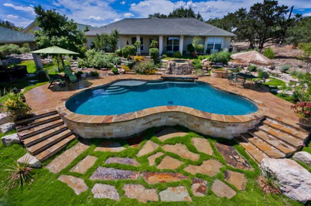 cool backyard pools photo - 1