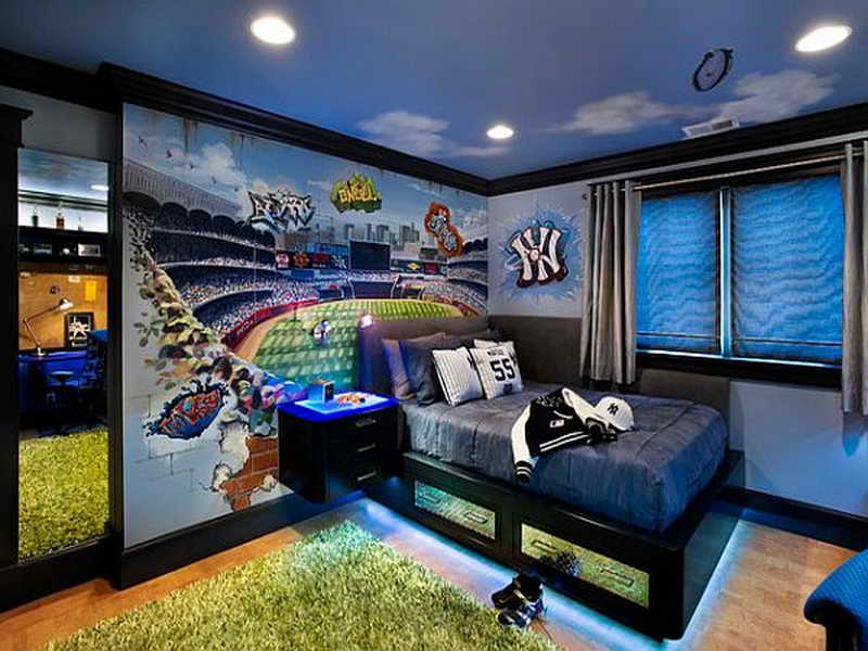 cool bedroom ideas for teenage guys photo - 1