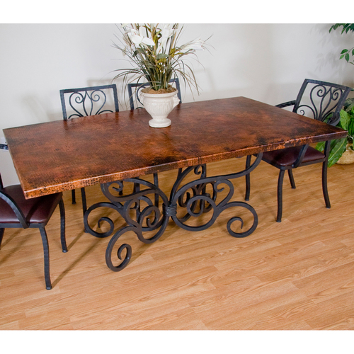 Copper dining room tables - large and beautiful photos. Photo to ...