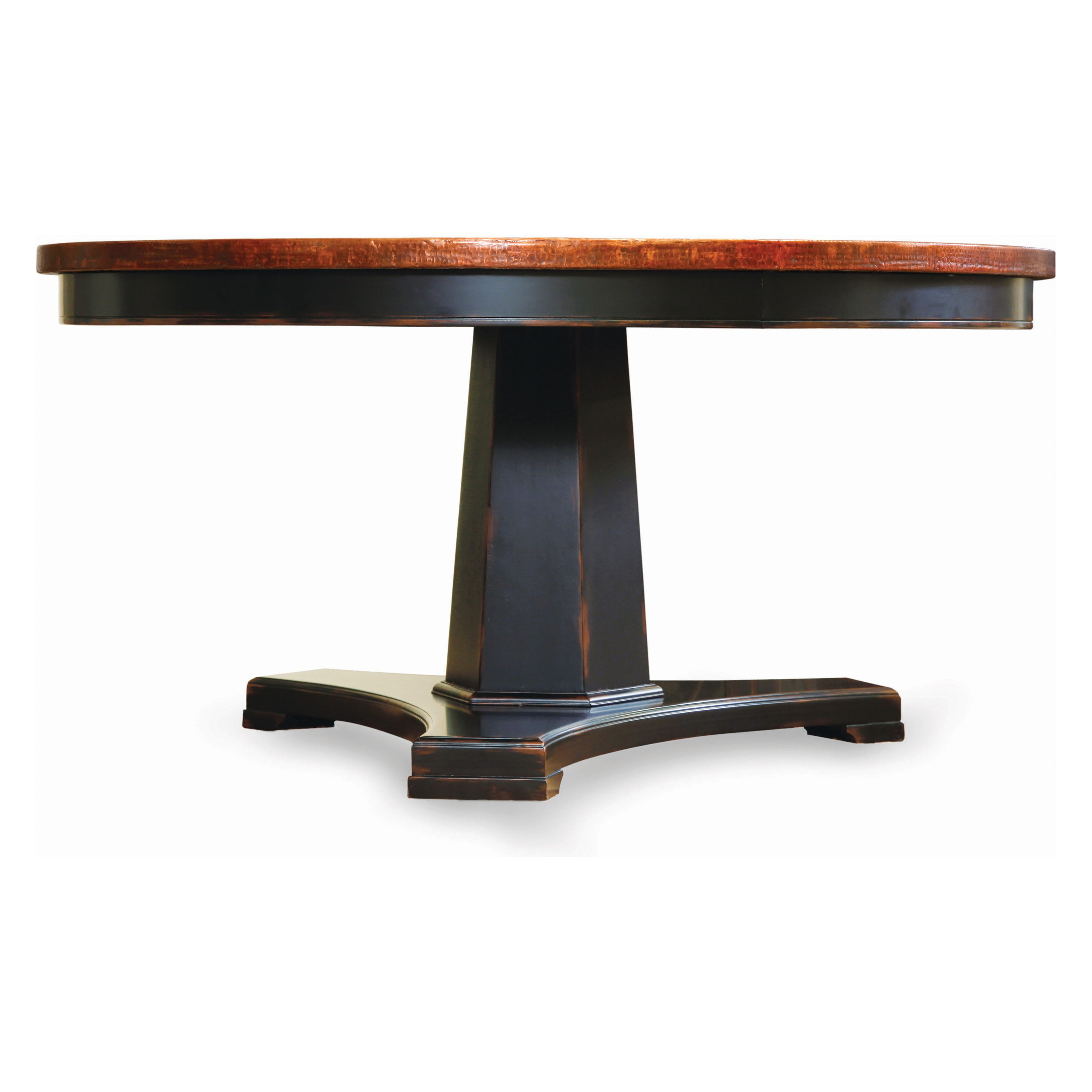 copper top dining table photo - 1