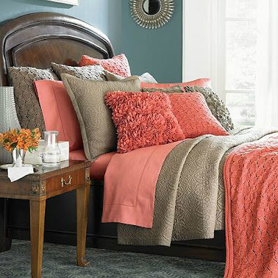 Coral bedroom color schemes