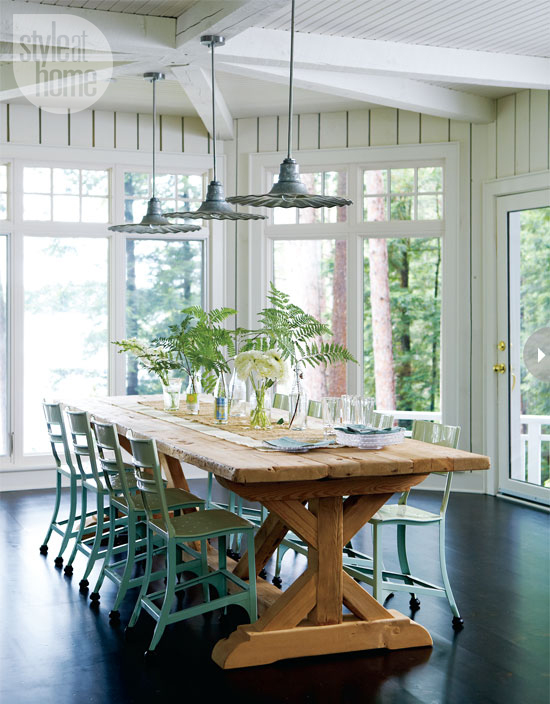 cottage style dining furniture photo - 1