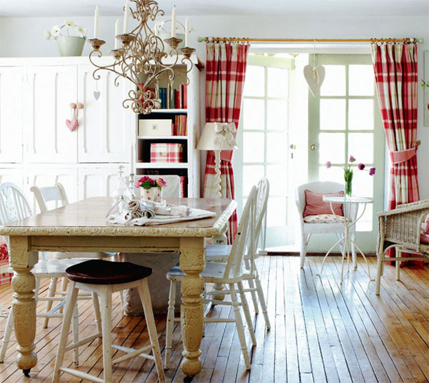 cottage style dining room photo - 1