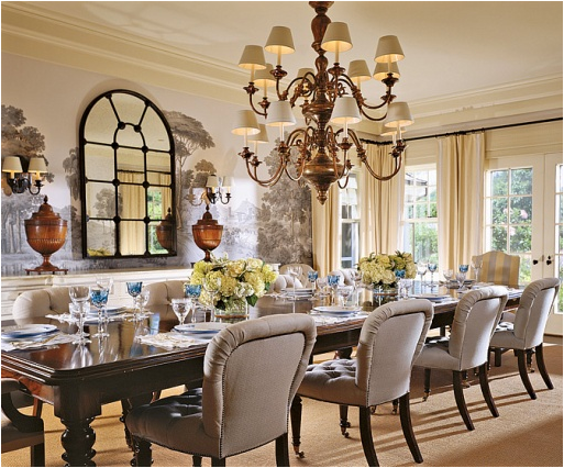 Elegant Enchanting Country French Dining Room Contemporary 3d House Part 14