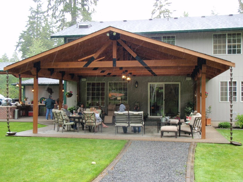 Covered Backyard Patio Large And Beautiful Photos Photo To