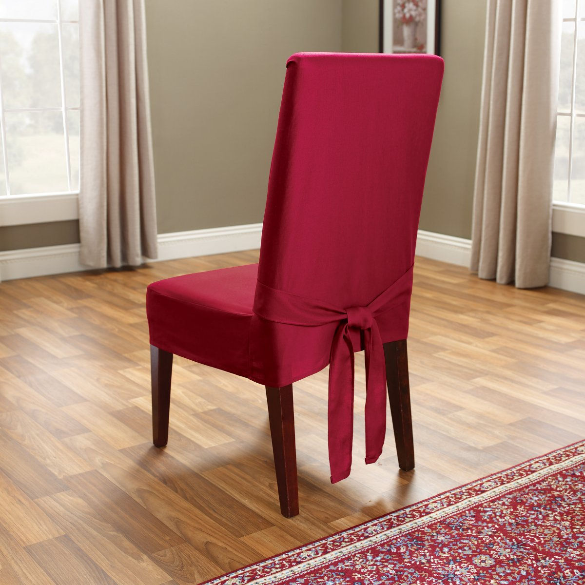 covering dining room chairs photo - 2