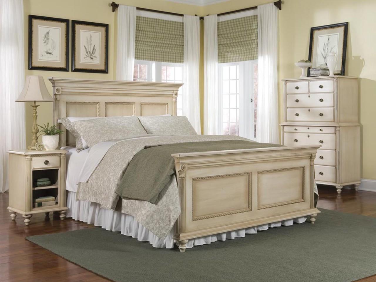 cream colored bedroom furniture photo - 1