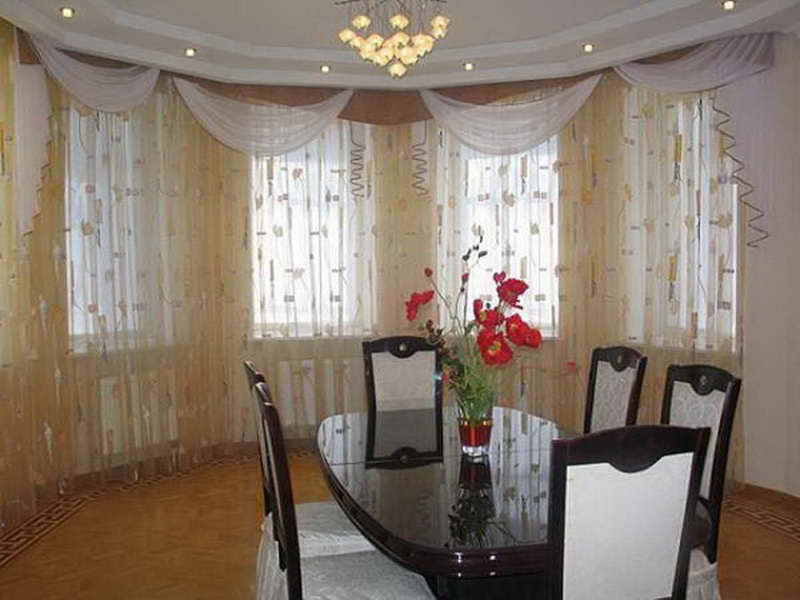 curtain ideas for dining room photo - 2