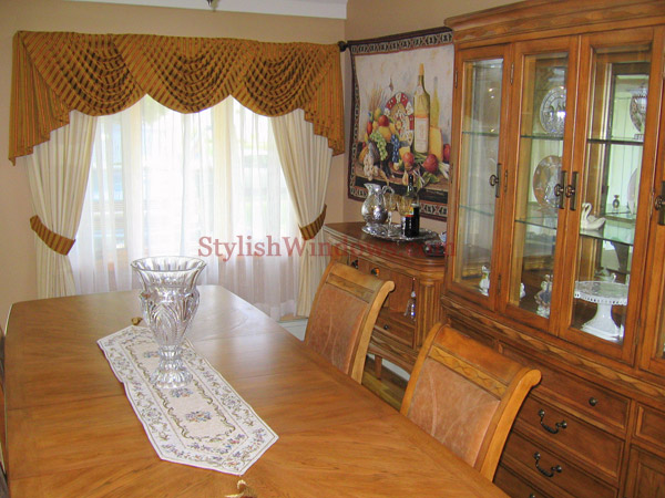Curtains for dining room windows - large and beautiful photos. Photo ...