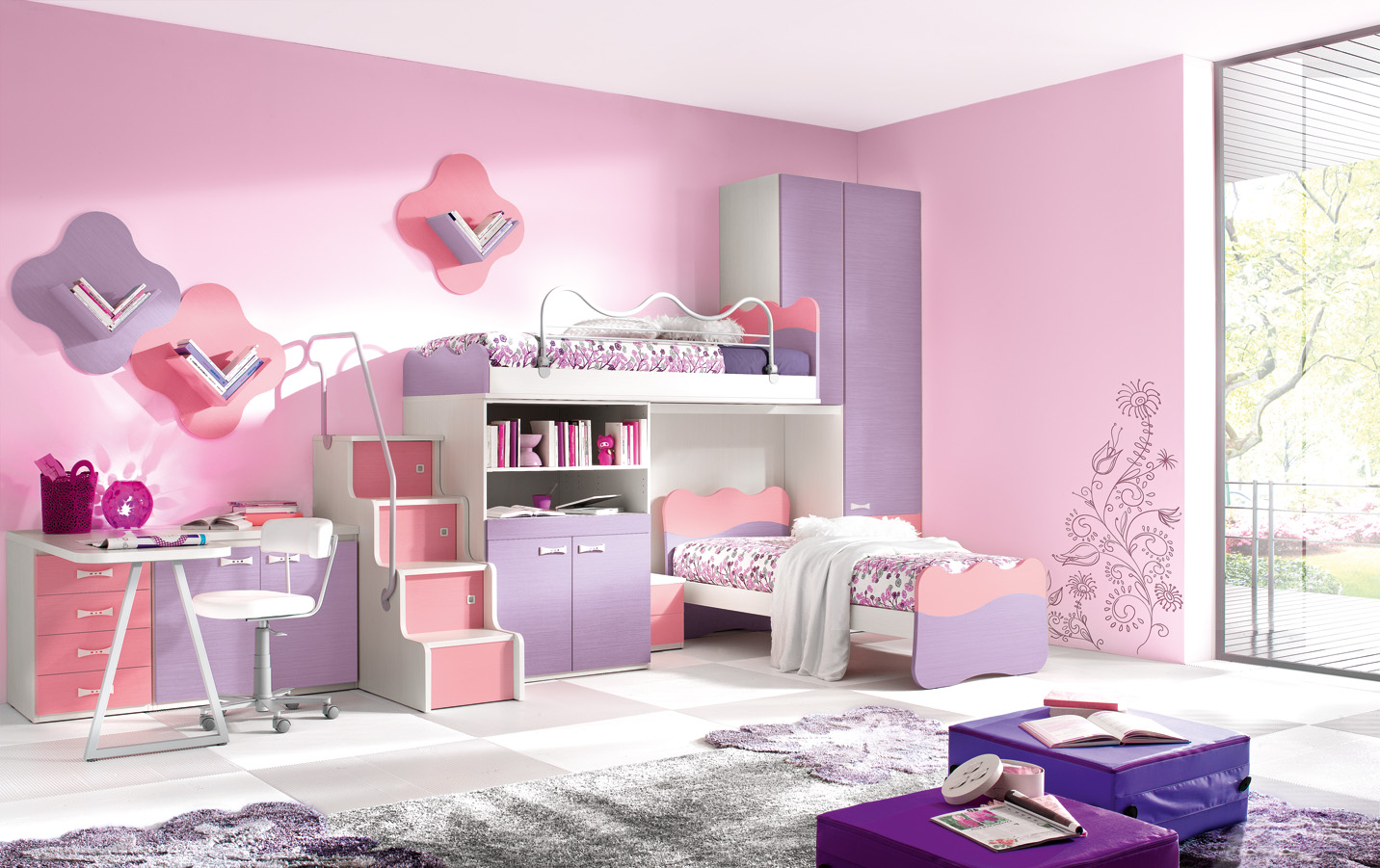 cute teenage girl bedroom designs photo - 1
