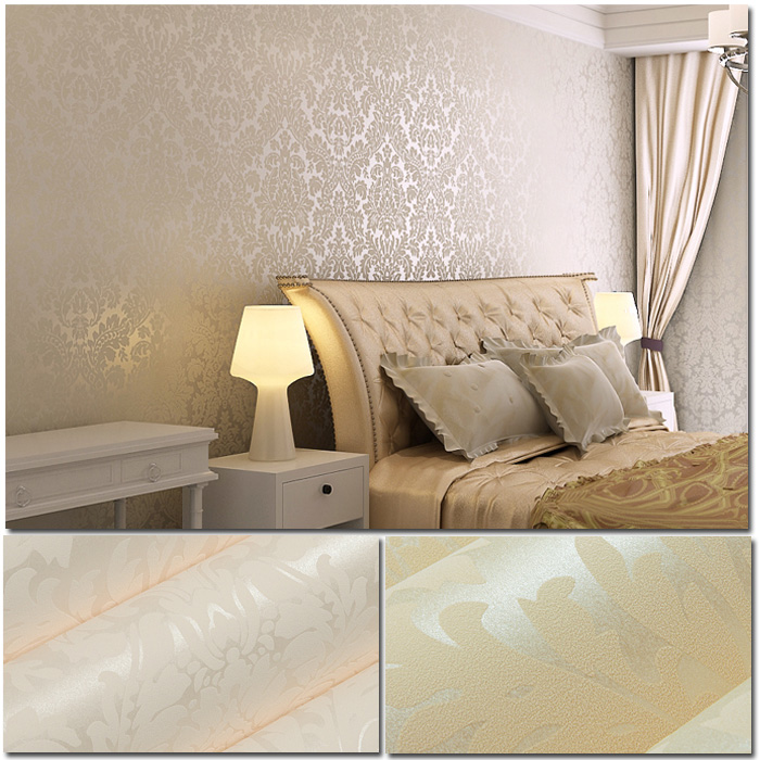 damask wallpaper bedroom photo - 2