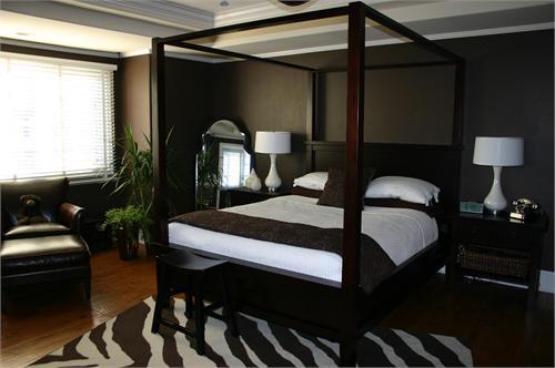 dark brown bedroom walls photo - 1
