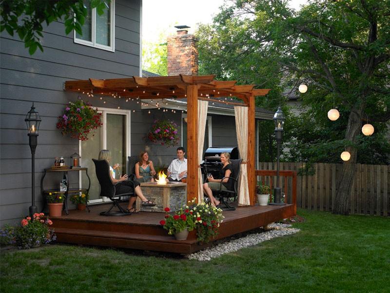 decks for small backyards photo - 2
