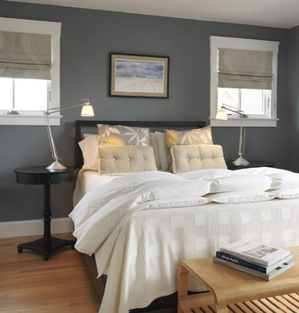 decorating a bedroom with gray walls photo - 1