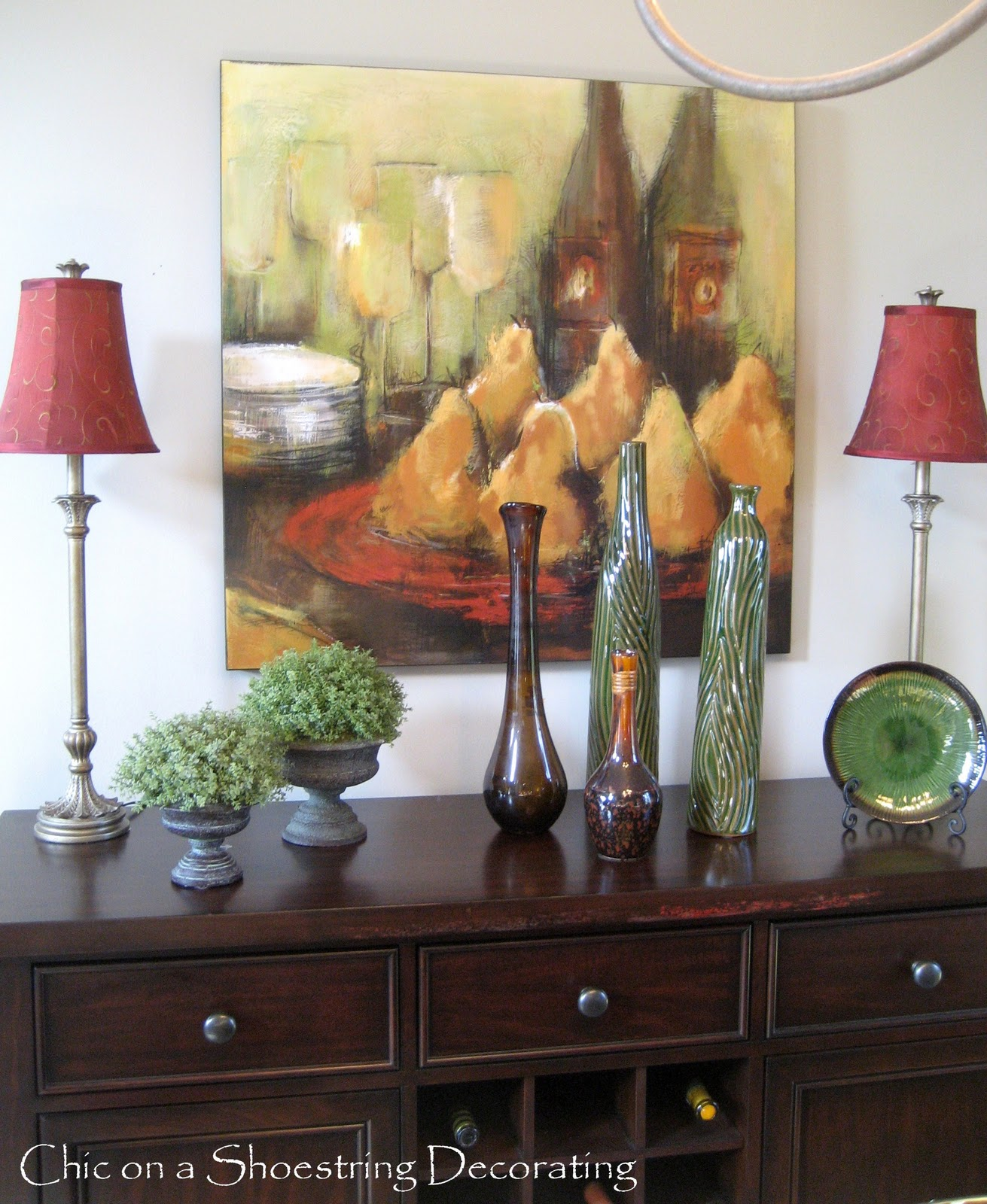 decorating a dining room buffet photo - 2