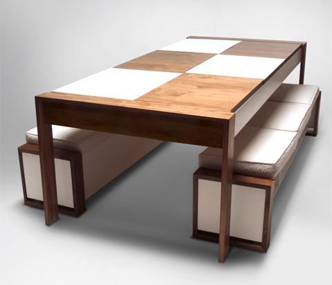 dining bench storage photo - 1