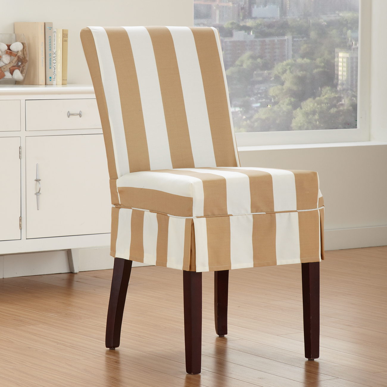 Dining chair slip cover - large and beautiful photos. Photo to ...