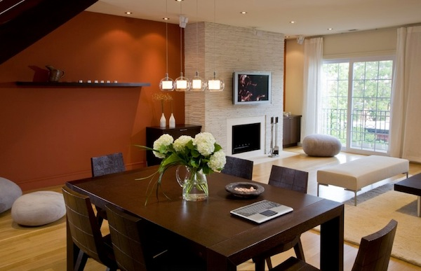 dining room accent wall photo - 2
