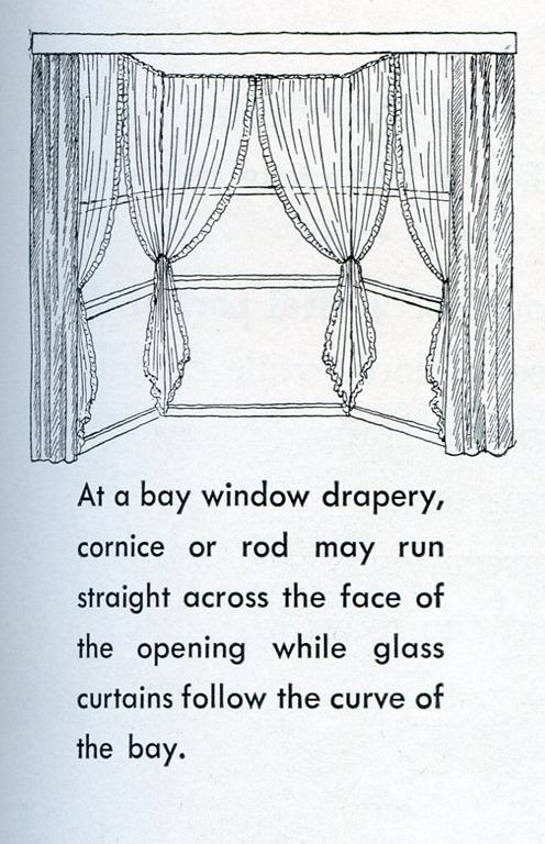 dining room bay window treatments photo - 2