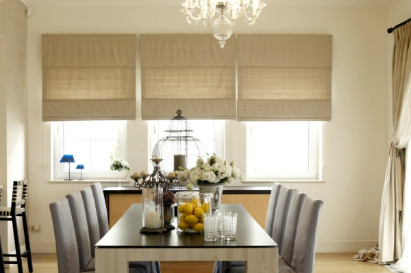 Beautiful Dining Room Blinds