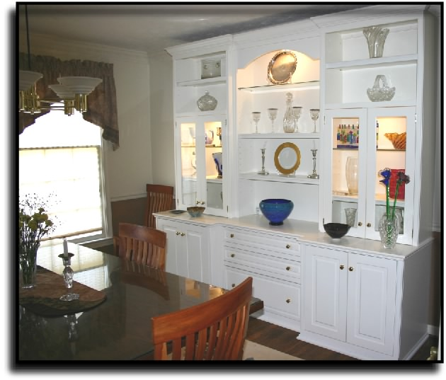 Charming Dining Room Built Ins