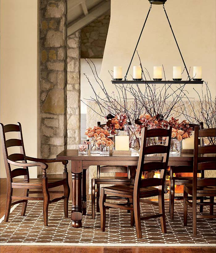 dining room candle chandelier photo - 1