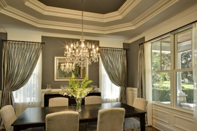 dining room crystal chandelier photo - 1