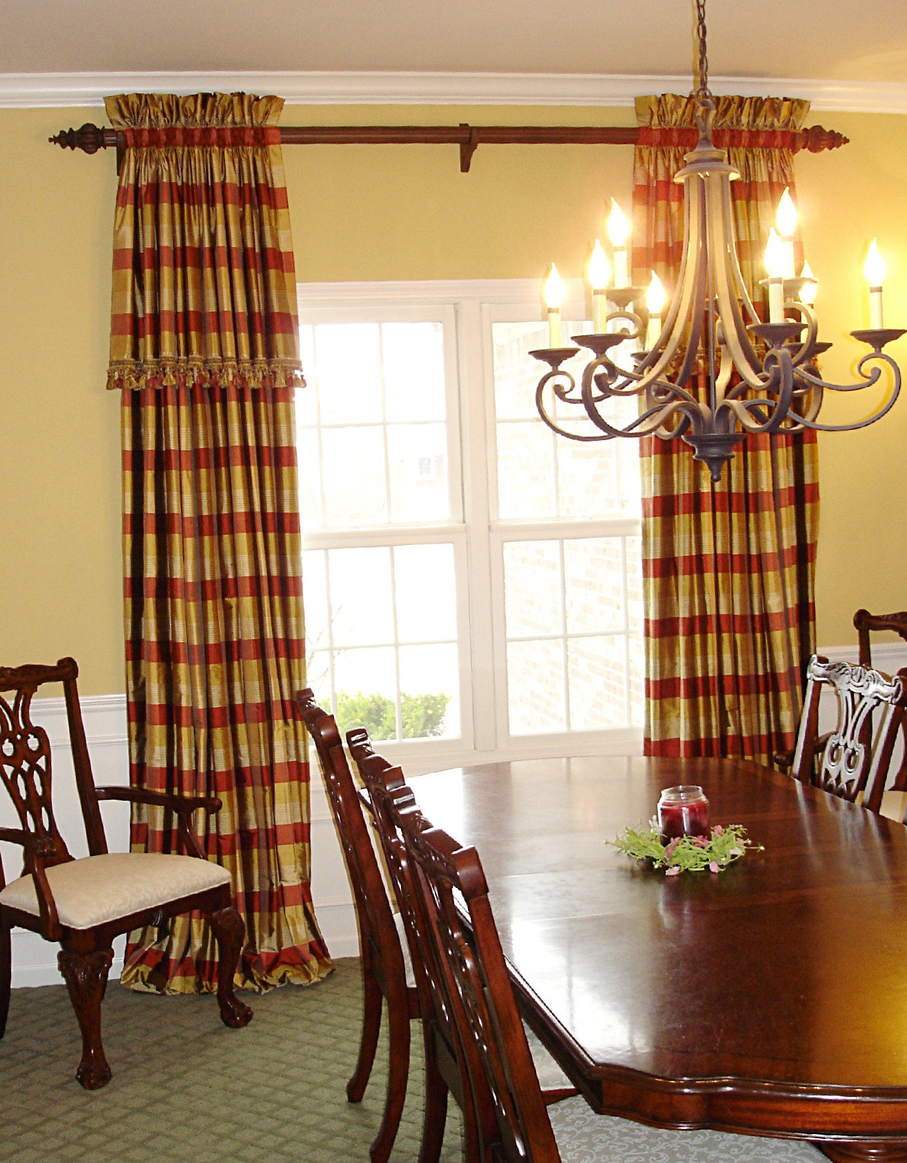 Dining Room Curtain Panels Photo