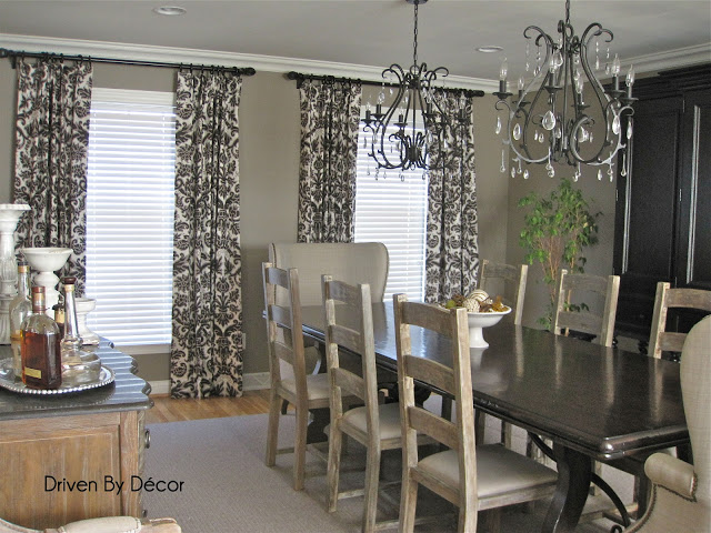 Dining room drapes - large and beautiful photos. Photo to select ...