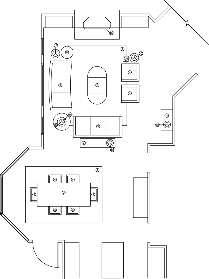 Dining Room Floor Plan