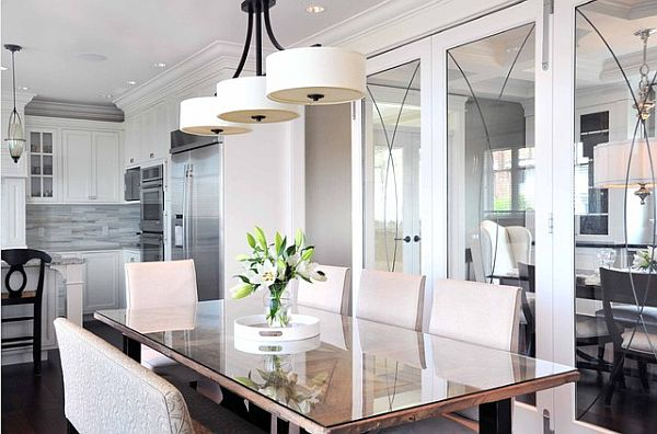 Dining room hanging light fixtures - large and beautiful photos ...