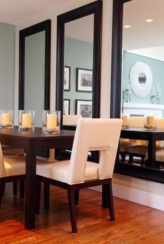 Dining room mirror wall - large and beautiful photos. Photo to ...