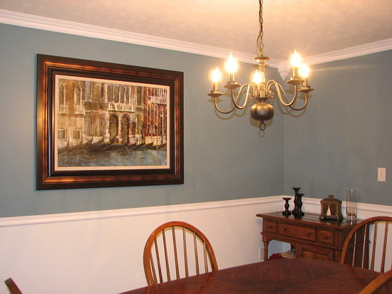 dining room paint ideas with chair rail photo - 2