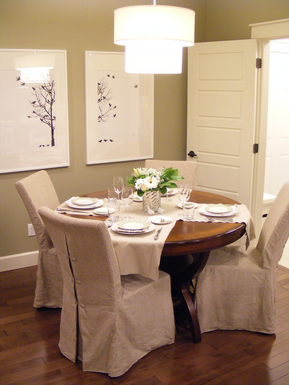 Dining room slip covers - large and beautiful photos. Photo to ...
