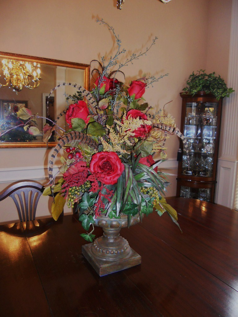 dining room table arrangements photo - 2