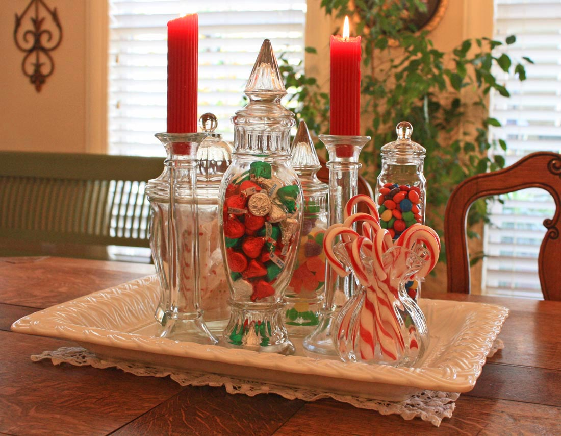 dining room table christmas decoration ideas photo 2