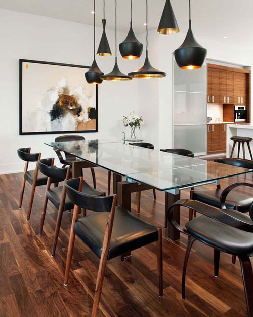 Dining room table lighting - large and beautiful photos. Photo to ...