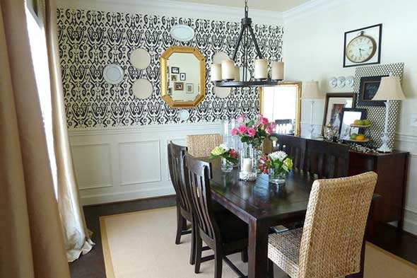 room unique for wall walls modern ideas country dining decor