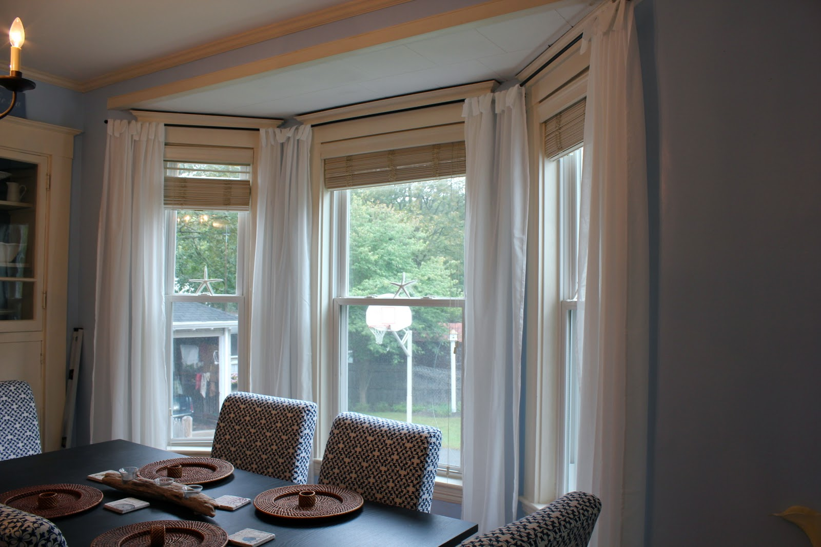 Dining room window curtains large and beautiful photos for Valances for dining room windows
